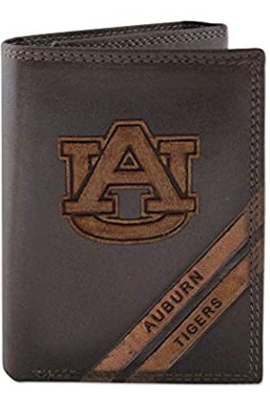 ZEP-PRO NCAA Auburn Tigers Pull-Up Leather Trifold Embossed Wallet