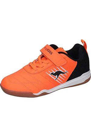 KangaROOS Unisex-Kinder Super Court EV Sneaker, Neon /Jet Black 7950