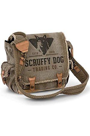 SCRUFFY DOG Vintage Messenger Bag für Damen und Herren – Canvas 13 Zoll Laptop Tasche für Schule oder Business – Casual Schultertasche für Reisen – Durable Travel Courier Gear und Zubehör