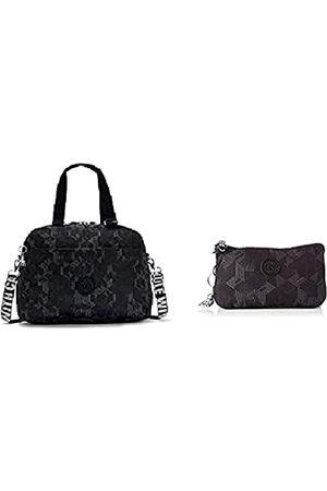 Kipling Weekend Deny Mysterious Grid + Damen Creativity L Reisezubehr- Reisebrieftasche, Geheimnisvolles Gitter