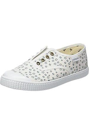 victoria Unisex-Kinder Ingles Elástico Estrellas Sneaker, (Blanco)