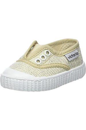 victoria Jungen Unisex-Kinder Inglesa Elástico Lurex Sneaker, (ORO)