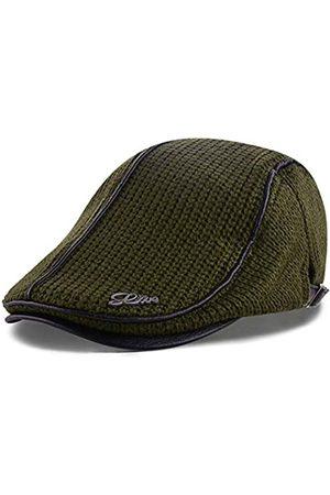 M MOACC Herren Baskenmütze Baumwolle Schnalle verstellbar Newsboy Hüte Cabbie Gatsby Cap - Gr�n - Einheitsgröße