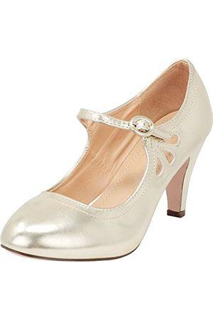 Cambridge Select Mary Jane Damen Pumps mit rundem Zehenbereich, mittelhoher Absatz, Kleid
