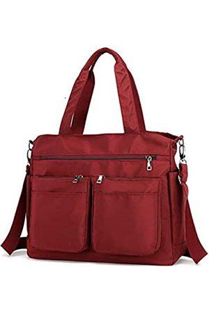 AIRUI Crossbody-Taschen für Frauen, Nylon-Geldbörse mit mehreren Taschen, große Schultertaschen, Handtaschen für Reisen, Arbeit und den täglichen Gebrauch, (weinrot)