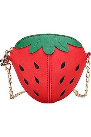 Multifit Kleine Umhängetasche für kleine Mädchen, Erdbeere, Mini-Umhängetasche, Münzgeldbeutel für Kinder, Mädchen