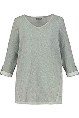 GINA LAURA Damen Sweatshirt, Rippenstruktur, Oversized