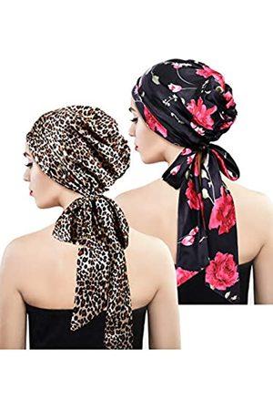 Blulu Kopftuch aus weichem Satin, Kopfbedeckung für Damen