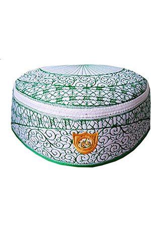 Alwee Muslim Kufi Hat ALW010 Islam Men Prayer Skull Cap Headware Ramadan Eid Gift (20.5 in. Circumference)
