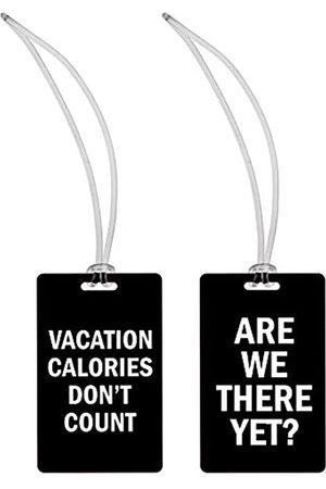 Snark City Gepäckanhänger - Urlaub Kalorien + sind wir Schon da (2er-Set) für Damen 4,8 x 4,5 x 0