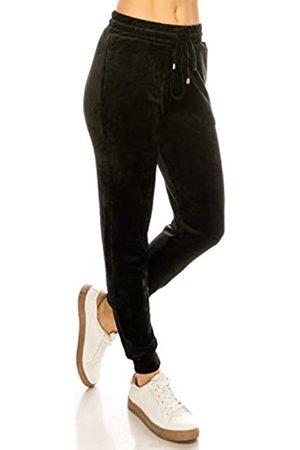 Always Damen Samt Velours Jogginghose - Solid Basic Premium Soft Stretch Warm Winter Sweatpants Pants - - Mittel