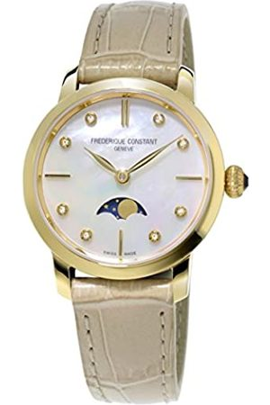 Frederique Constant Damen-Armbanduhr XS Analog Quarz Leder FC-206MPWD1S5