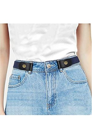 WHIPPY Damen Gürtel ohne Schnalle, elastisch, ohne Schnalle, unsichtbare Gürtel für Herren bis zu 121