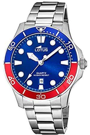 Lotus Herren Analog Quarz Uhr mit Edelstahl Armband 18759/5