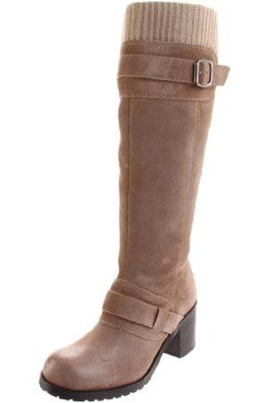 BC Footwear Damen World Atlas Kniehohe Stiefel, (Taupe)