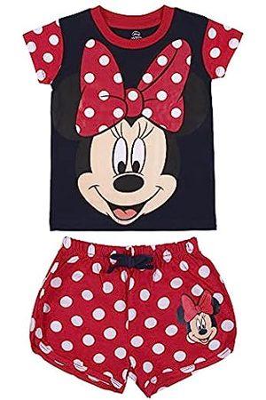 CERDÁ LIFE'S LITTLE MOMENTS Mädchen Pijama Verano Niña de Color-Licencia Oficial Minnie Mouse Red Girl Sommerpyjamas-Offizielle Disney-Lizenz