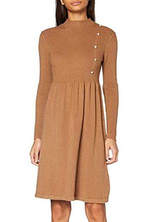 Apart Damen Knitted Dress with Buttons Lässiges Kleid