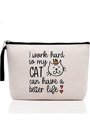 Hanamiya Na KatzenliebhaberGeschenkfürIhreFrauenKatzenliebhaberGeschenkefürFrauen-IWorkHardSoMyCatCanHaveABetterLife-LustigesGeburtstagsgeschenkfürFrauenKatzeMutterLiebhaberLady