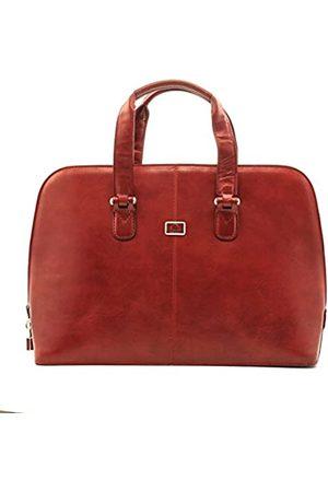 Tony Perotti Italian LeatherFashion Zip-Around Top Handle Laptop Business Shoulder Tote Brief Bag