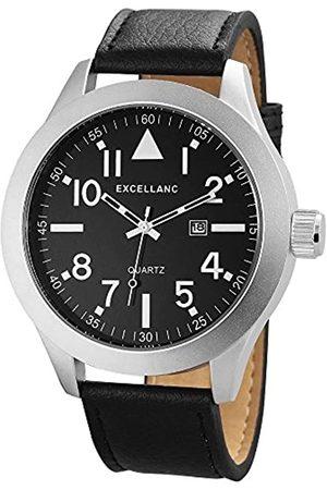 Excellanc Herren-Armbanduhr XL Analog Quarz Verschiedene Materialien 298321000002