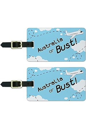 Graphics and More Graphics & More Australia or Bust Flying Airplane Luggage Suitcase Carry-on Id Tags