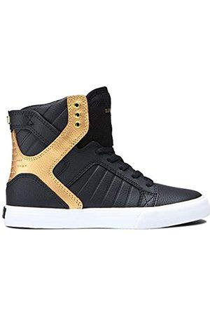 Supra Unisex-Kinder Kids Skytop Hohe Sneaker, (Black/ -White-M 93)