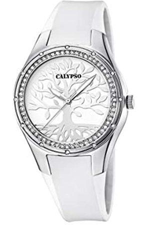 Calypso Damen Analog Quarz Uhr mit Plastik Armband K5721/A