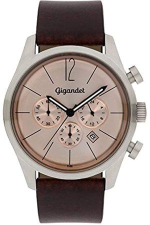 Gigandet Herren-Chronograph Quarz Analog mit Lederarmband Art Deco G13-004