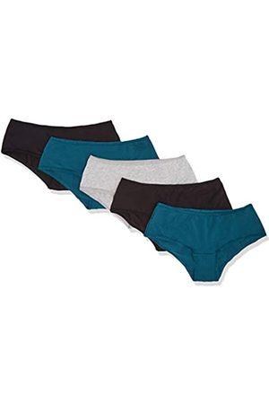 IRIS & LILLY Amazon-Marke: Damen brazilian slip Hipster BELK006M5, Mehrfarbig (Black/Legion Blue/Melange), XXX-Large