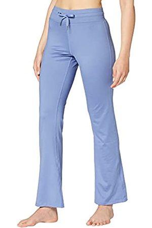 AURIQUE Amazon-Marke: Damen Yoga-Hose, Blau (Colony Blue), 36