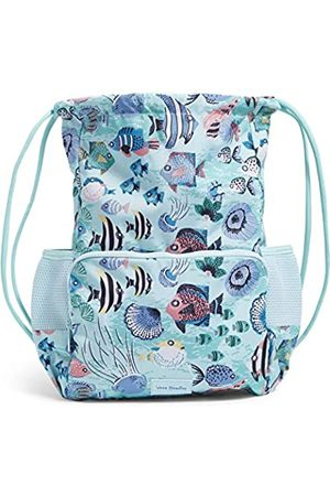Vera Bradley Recycled Lighten Up Reactive Deluxe Drawstring Backsack Backpack