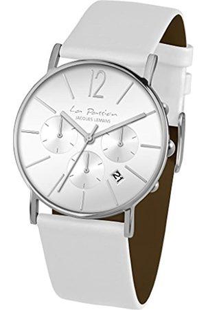 Jacques Lemans Unisex Analog Quarz Uhr mit Leder Armband LP-123B