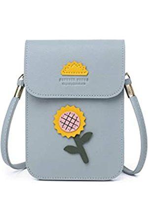 ZOONAI Kleine Umhängetasche für Handy, Handy, mit süßem Blumendesign