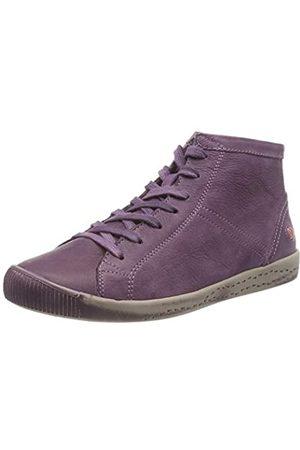softinos Damen Isleen Washed Leather Hohe Sneaker, (Purple 060)
