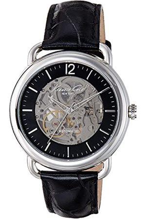 Kenneth Cole Herren Analog Automatik Uhr mit Leder Armband IKC8017_MAQUIN.Negro