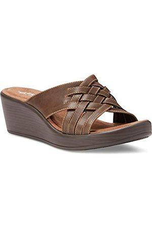 Eastland Women's Woven Slide Wedge Sandal