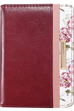 Coco Rossi Reisepasshülle, RFID-blockierende Reisepasshülle, Roségold, süße Blumen