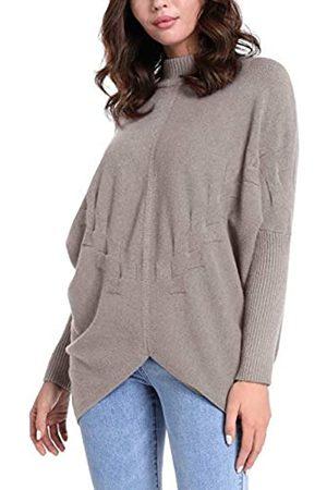 Apart APART extravaganter Damen Pullover, Lange Form, mit RIPP-Stehkragen und einem Saum, der vorn mittig kürzer geschnitten ist