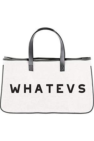 Needzo Whatevs Canvas Tote Bag für Frauen, große Baumwolle Geldbörse für Reisen, 50,8 x 27