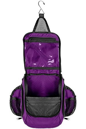 NeatPack Compact Hanging Toiletry Bag & Organizer | Water Resistant, Mesh Pockets