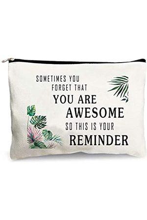 MuaToo You Are Awesome Kosmetiktasche, Geschenk für Frauen, Make-up-Tasche, Organizer, Baumwollbeutel, mit Reißverschluss, Geschenk für Freunde, Frauen, Mädchen, Mutter, Schwestern, Teenager, Geburtstagsgeschenk, Gedenkgeschenk