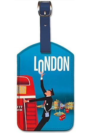 Pacifica Island Art Leatherette Luggage Baggage Tag - London by Aaron Fine