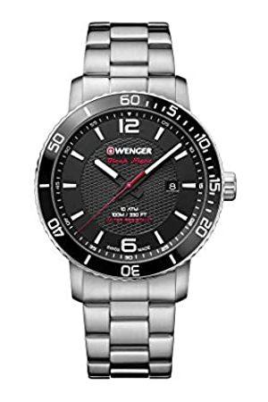 Wenger Unisex Erwachsene Analog Quarz Uhr mit Edelstahl Armband 01.1841.104