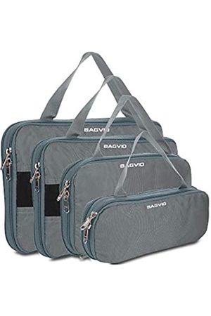 BAGVIO Kompressions-Aufbewahrungswürfel für Reisen – hochwertiges Gepäck-Organizer-Set. - Cube-4__Grey