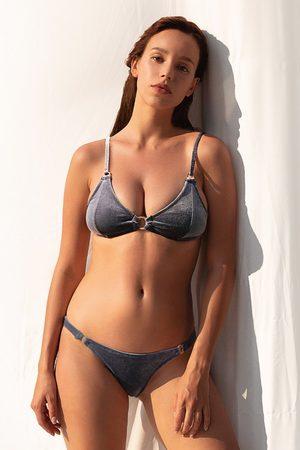 CUPSHE Grauer O-Ring Bikini mit niedriger Taille