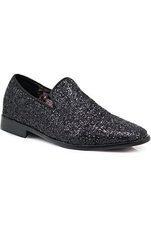 Enzo Romeo SPK04 Herren Vintage Glitzer Kleid Loafers Slip On Schuhe Klassische Smoking Kleid Schuhe