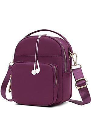 Semikk Kleine Umhängetasche für Frauen, Handytasche, Umhängetasche, Mini-Reise-Nylon-Umhängetasche, mehrere Reißverschlusstaschen., (Aa1 )
