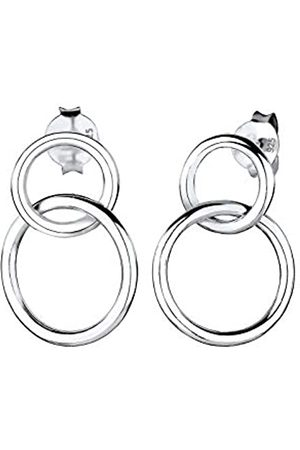 Elli Ohrringe Damen Ohrringe Kreis Geo Basic Minimal Layer in 925 Sterling