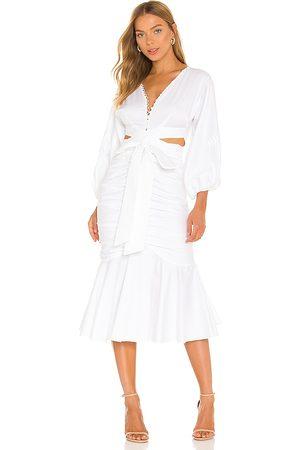 AMUR Malika Midi Dress in . Size 2, 4, 6, 8, 10.