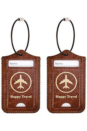 WALNEW Gepäckanhänger mit Edelstahlschlaufe für Koffer